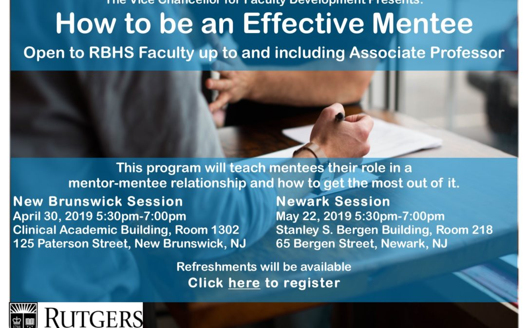 How to be an Effective Mentee